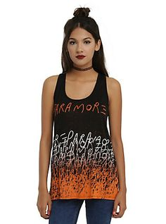 Paramore Ombre Name Girls Tank Top, BLACK