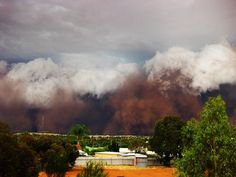 Northam in Western Australia dust storm