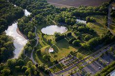 Mill Race Park designed by Michael Van Valkenburgh Associates, Inc.