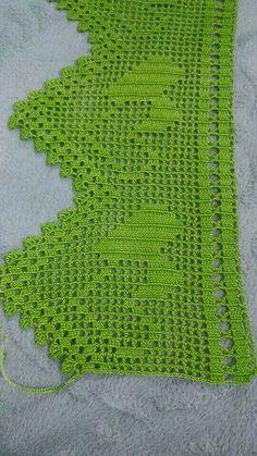 Crochet Towel, Crochet Granny, Filet Crochet, Crochet Baby Dress Pattern, Crochet Curtains, Hardanger Embroidery, Crochet Borders, All Craft, Needlepoint