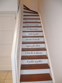 12 Deco staircase which give ideas Basement Stairs, House Stairs, Metal Wall Decor, Metal Wall Art, Tiled Staircase, Decoration Entree, Basement Remodeling, Wall Art Designs, Metal Walls
