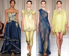 Designers, Georgia Chapman and Keren Craig showcased their Marchesa Spring 2013 Collection during this year's New York Fashion Week which is actually inspired by India in the 1960s.