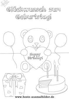 ausmalbild geburtstagstorte   happy birthsday coloring   pinterest