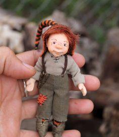Miniature Handmade Gnome OOAK Artist Dollhouse for 1/12th scale dolls house Fai | eBay