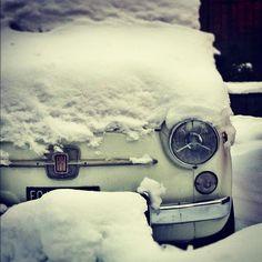 Snow, #Turin  #Fiat500