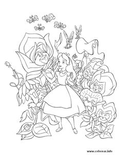 Alice in Wonderland Printable Coloring Pages 2 - Disney Coloring ...