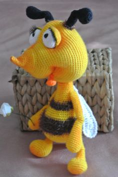 #Bee, #wasp yellow. Handmade. Amigurumi. Hand-made #toy is unique. I came up…