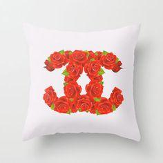 Red Roses Throw Pillow by Sara Eshak