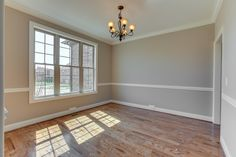 A view of the formal dining room from the entryway