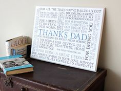 Thank you gift plaque from No Ordinary Gift Company