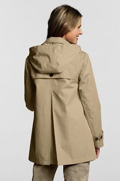 Eileen Fisher Reversible Hooded Rain Coat Black/Pewter Women's