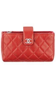 Chanel red quilted wallet bag Chanel Kézitáskák 9d42dc296f