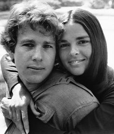 Ryan O'Neal and Ali MacGraw in Love Story, 1970.