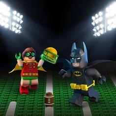 Father-son bonding just in time for the #SuperBowl. #LEGO #Batman #LEGOBatman #LEGOBatmanMovie #DCComics #SuperHeroes #Robin #EverythingIsAwesome #MashupMadness #CombineYourLEGO #UpgradeYourLEGO #BuildSomethingSuper #BuildSomethingBatman #AwesomeAwaits #BlackandYellow