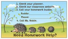 A lovely idea for Homework Help from teachers and friends!