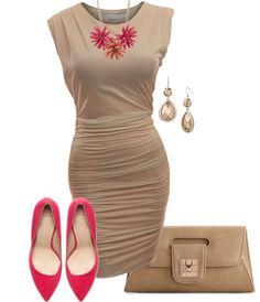 Nude simple dress