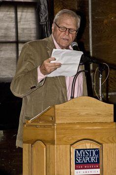 Actor Brian Dennehy speaks at the Charles W. Morgan Restoration kick-off celebration. September 27, 2008.