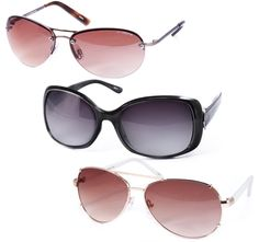 4/16/2012  $4.99 3 Pack: Liz Claiborne Ladies' Sunglasses: Stylish Cat Eye, Rounded and Aviator Styles with 100% UV Protection