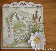 The doily die Marianne Design Cards, Crafters Companion Cards, 3d Cards, Die Cut Cards, Pretty Cards, Baby Cards, Flower Cards, Vintage Cards, Birthday Cards