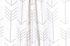 Silver Curtains Gray Arrow Curtain Panels Window Treatments Home Decor Bedroom Nursery Drapery Custom Drapes by SewManyLinens on Etsy (null)