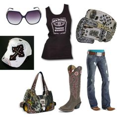 cowgirl style baby, created by jillds on Polyvore