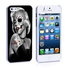 Marlyn Monroe Skull Tattoos iPhone 4, 4S, 5, 5C, 5S Samsung Galaxy S2, – iCasesStore