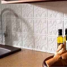 Fasade Backsplash – Traditional 1 in Matte White - Modern Diy Interior, Interior Design Kitchen, Rustic Kitchen, Kitchen Decor, Kitchen Ideas, Kitchen Centerpiece, Centerpiece Ideas, Kitchen Layout, Kitchen Styling