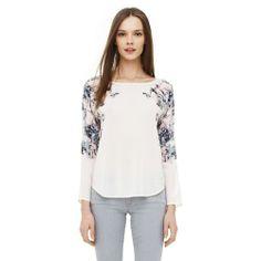 Long sleeve silk floral print shirt by Club Monaco, $189.50
