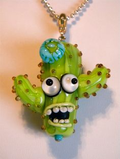 Glass Artist Lampork Bead Howling Cactus on by delphistreasures, $72.00