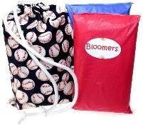 Give the gift of Comfort - Mini Sacks with two change kits - $19.99 with free shipping.  www.newbloomers.com.  Bloomers / Lux - Single Use Change Kits for Life On The Go!  This Sack gift includes two change kits (hand assembled in the USA), and one Mini Sack (100% handmade, cotton, washable, re-useable, and 100% made in the USA).  Sports, Ball Parks, Hockey, Soccer, Football, Baseball, Basketball