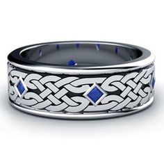 Blue Sapphire Knot Ring