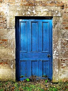 What's behind the Blue door? Great beginning to a mystery novel!