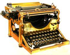Brass Underwood Typewriter serial s740441