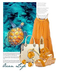 """The Beauty of Ocean Life"" by queenrachietemplateaddict ❤ liked on Polyvore featuring Diane Von Furstenberg, Dolce&Gabbana, Nine West, Anastazio, Ross-Simons, Blue, teal, underwater, yelloworange and seaturtle"