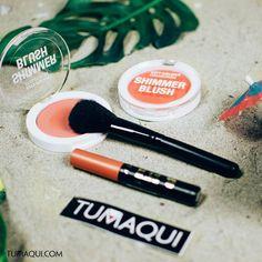 Busca tu rubor favorito y Brochas a la obra! Qué color de labios usarías para completar este makeup? _ #tumaqui #makeup #belleza