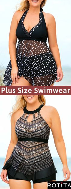 Look hotter this summer in this on trend swimwear These comfortable swimsuits will make you want to stay out all day to enjoy the delicious sunshine Wear this and go to enjoy the sunshine - braids Curvy Women Outfits, Plus Size Outfits, Clothes For Women, Girl Fashion, Fashion Outfits, Womens Fashion, Plus Size Swimsuits, Looks Vintage, Stitch Fix