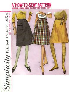 faf7b476898 New to AppleBettyCurio on Etsy  1965 Vintage A-Line Skirt in Two Lengths -