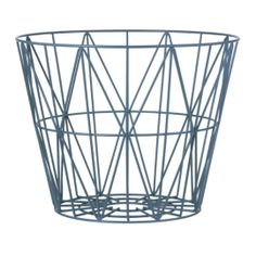 This Wire Basket comes from the collection of the Danish label Ferm Living. The ideal storage basket for firewood, pillows, blankets, magazines, toys Metal Baskets, Large Baskets, Wire Basket, House Doctor, Storage Boxes, Storage Baskets, Black Metal, Basket Lighting, Lighting Ideas