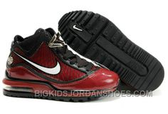 best loved dc1a4 b885c New Nike Air Max LeBron VII Kids Team Red Metallic Silver Black Hot, Price    85.00 - Big Kids Jordan Shoes - Kids Jordan Shoes - Cheap Jordan Kids Shoes