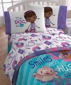 Love this Doc McStuffins Hugs Sheet Set on #zulily! #zulilyfinds