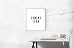 coming soon printable art, black and white art, shop opening poster, modern typography poster, pop up store comming soon poster
