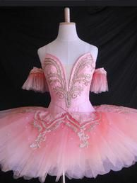 New Collection 2016 This pale pink, regal ballet costume has been created for the Grand Pas des Fleurs in the ballet Esmeralda. It can very well be used for the role of the Sugar Plum Fairy, Princess