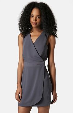 Topshop+V-Neck+Sleeveless+Wrap+Dress+available+at+#Nordstrom