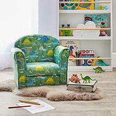 Kids Roar Dinosaurs Armchair | Dunelm Boys Dinosaur Bedroom, Boy Toddler Bedroom, Boy Room, Kids Bedroom, Kids Armchair, Bedroom Themes, Bedroom Ideas, Bedrooms, Nursery Ideas
