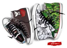 Limited edition Chuck Taylor Gorillaz collection (and link to listen to Gorillaz collabo with Andre 3000) Hot!