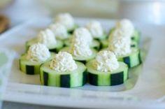 Cucumber Bites with Garlic Herb Filling