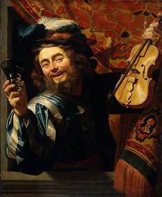 The Merry Fidler by Gerrit van Honthorst  Date: 1623