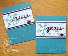 Peace & Joy sprinkled with Love - Card! www.ladyandherstamps.blogspot.com
