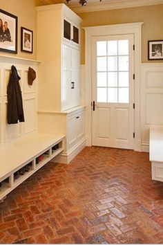 Love this floor in a mudroom.