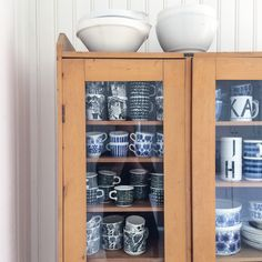 Cupboard. Vintage. Collection. Coffee cups. Interiors. Nordic living. By Johanna Sandberg.